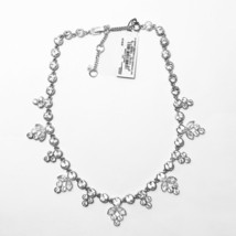 "Givenchy Sydney Crystal Collar Necklace Silver-Tone up to 18"" $150 +gift... - $59.39"