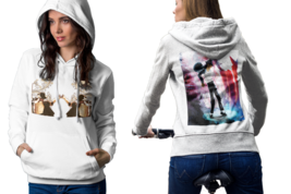 Michael Jackson  White Cotton Pullover Hoodie For Women - $23.75+
