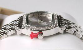 Charter Club Women's Silver-Tone Crystal Tonneau Case Bracelet Watch 28mm NEW image 4