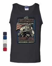 Injustice Becomes Law Rebellion Becomes Duty Tank Top Militia 2A Sleeveless - $10.98+