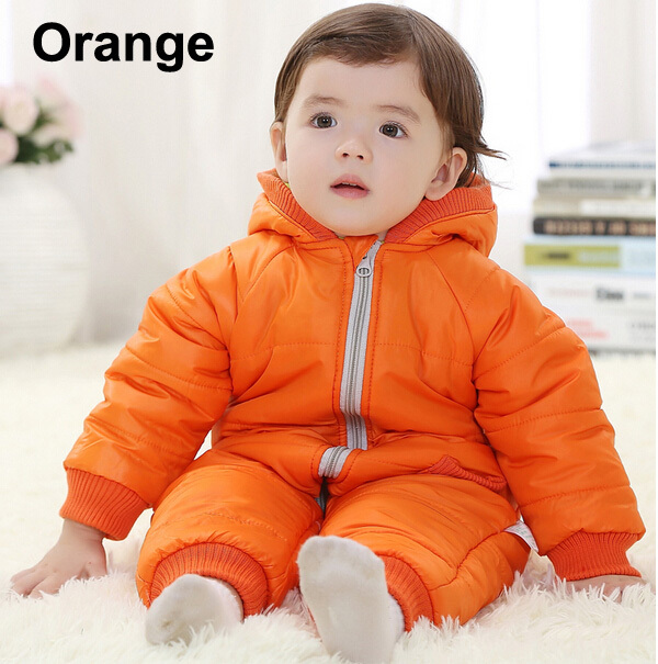 Baby Kid Toddler Boys Girls Winter Padded Onesie Romper Jumpsuit Outfit Snowsuit image 2