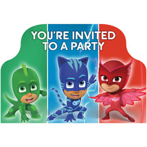 Amscan PJ Masks Invitations (8 ct), One Size, Multi-colored - $53.35