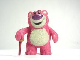 Disney Toy Story bear Lotso pink mean villain  Action figure pvc Cake to... - $9.51