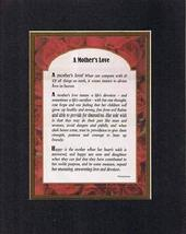 Touching and Heartfelt Poem for Mothers - A Mother's Love Poem on 11 x 1... - $15.79