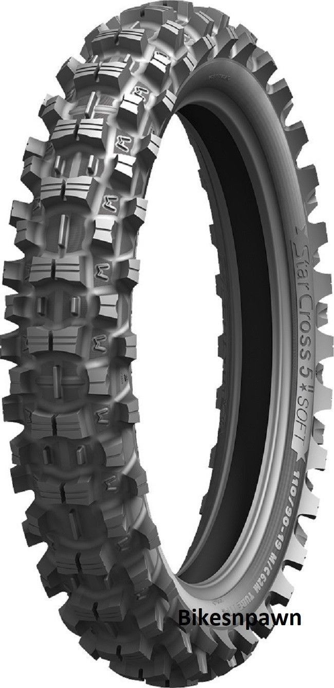 New 110/90-19 Michelin StarCross 5 Soft Rear Motorcycle Dirt Bike Tire 62M