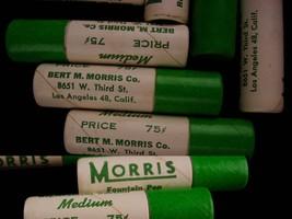 12 vintage morris Fountain pen nibs - original box -  gold replacement - calligr image 4