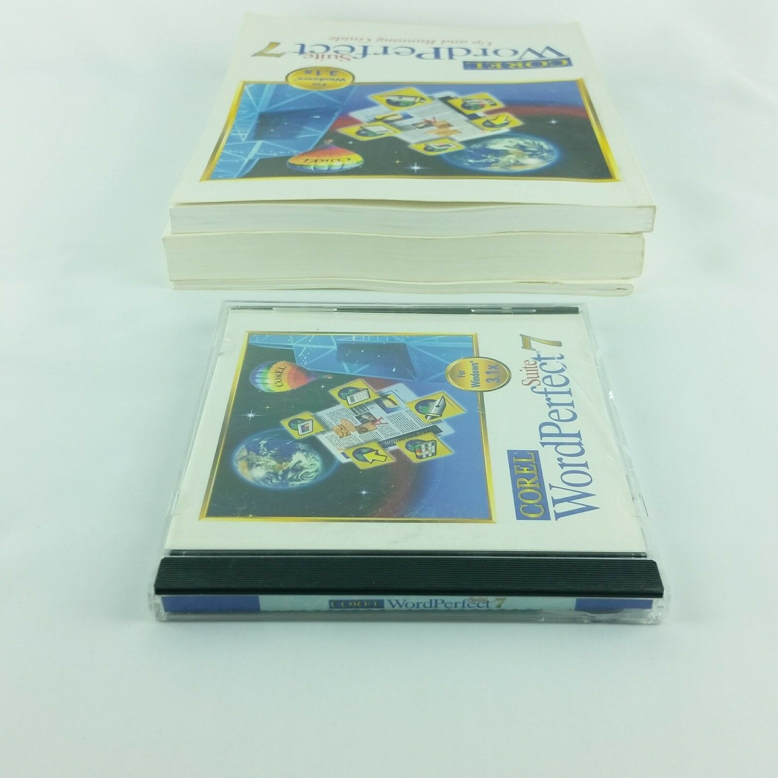 Corel WordPerfect 7 Suite Windows 3.1x  Books and CD Vintage Quattro Pro Paradox image 6