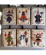 Sei Personaggi in cerca di Halloween cross stitch chart Cuore e Batticuore  - $11.70