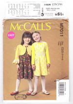 Pattern McCalls 7011 Girls Size 2 3 4 5 Jacket Dress Belt Easy, 2014 - $3.99