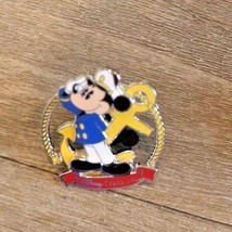 Disney Trading Broche Mickey Mouse Capitaine avec Ancre Disney Cruise Ligne 3D - $8.90