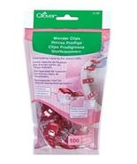 Clover 3159 Wonder Clips for Needlecraft, Red, 100 Per Package - $22.55