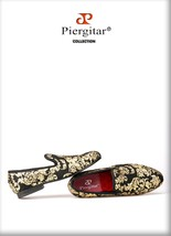 """Piergitar"" New High-end Gold printing Luxury Fashion Men Loafers ! - $194.99"