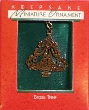 Hallmark Miniature Keepsake Christmas Ornament Brass Tree in Box 1988 - $4.95