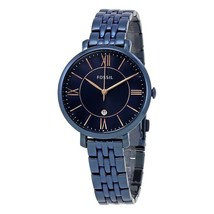 New Fossil Women's Jacqueline Blue Dial Stainless Steel Watch #ES4094 - $86.27