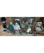 Set of 6 PRECIOUS MOMENTS Dolls Children of the World Africa Ireland Ita... - $127.37