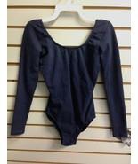 So Danca 7006 Women's Size Medium (8-10) Navy Blue Cotton Long Sleeve Le... - $20.99