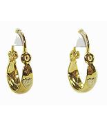 Baby & Toddler 18k Skillus Gold Tiny Hoop Earri... - $12.97