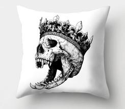 "Werewolf King Skull in Crown 18"" X 18"" Throw Pillow CASE Halloween HORRO... - $12.99"