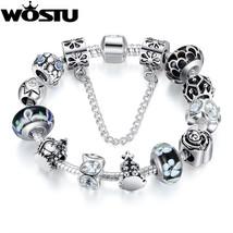 Hot Sale 925 Silver Charm bracelet for Women DIY Beads Fine Jewelry Orig... - $25.53