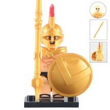 Spartacus With Gold cape Medieval knight minifigures building blocks toy... - $2.60