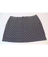W12818 Womens OLD NAVY Black with White Print Pockets MINI SKIRT New 12 - $28.96