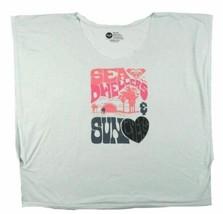 Juniors Medium Roxy Shirt Junior Women's Tee No Collar Sea & Sun Lovers Mint