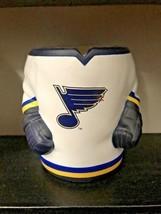 Labatt Blue Hockey Jersey Pop Beer Holder Koozie Foam Rubber St Louis Blues - £17.48 GBP