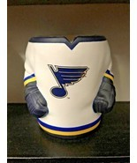 Labatt Blue Hockey Jersey Pop Beer Holder Koozie Foam Rubber St Louis Blues - £17.56 GBP
