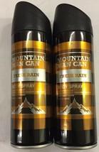 Fresh Rain 6.8oz Mountain Man Can Deo Body Spray Men 2 Pack Preferred Fragrance - $14.84