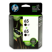 HP 65 2-pack Black Original Ink Cartridges (1VU22AN#140) - $42.99