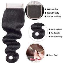 Body Wave Weave Brazilian Virgin Hair Bundles with Closure Unprocessed Brazilian image 6