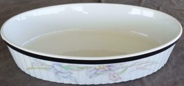 "Mikasa Ultra Cream Bake&Serve 12"" Oval Baker - Charisma Black - BEAUTIFUL DISH - $49.49"