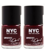 N.Y.C. New York Color Lovatics By Demi Lip and Cheek Tint CHEEKY BERRY #... - $15.67