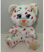 Build a Bear Buddies Sprinkles Cat Plush kitten white pink green specks ... - $14.84