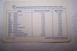 1968 mercedes 280sl pagoda 280se/c owners price card w113 w111 w100 w109... - $34.99