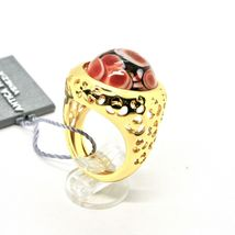RING ANTICA MURRINA VENEZIA WITH DISC WITH MURANO GLASS RED GOLDEN AN205A14 image 5