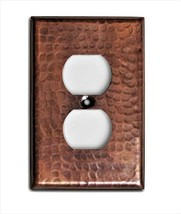 Monarch Pure Copper Hammered Duplex Wall Plate / Switch Plate - $21.35