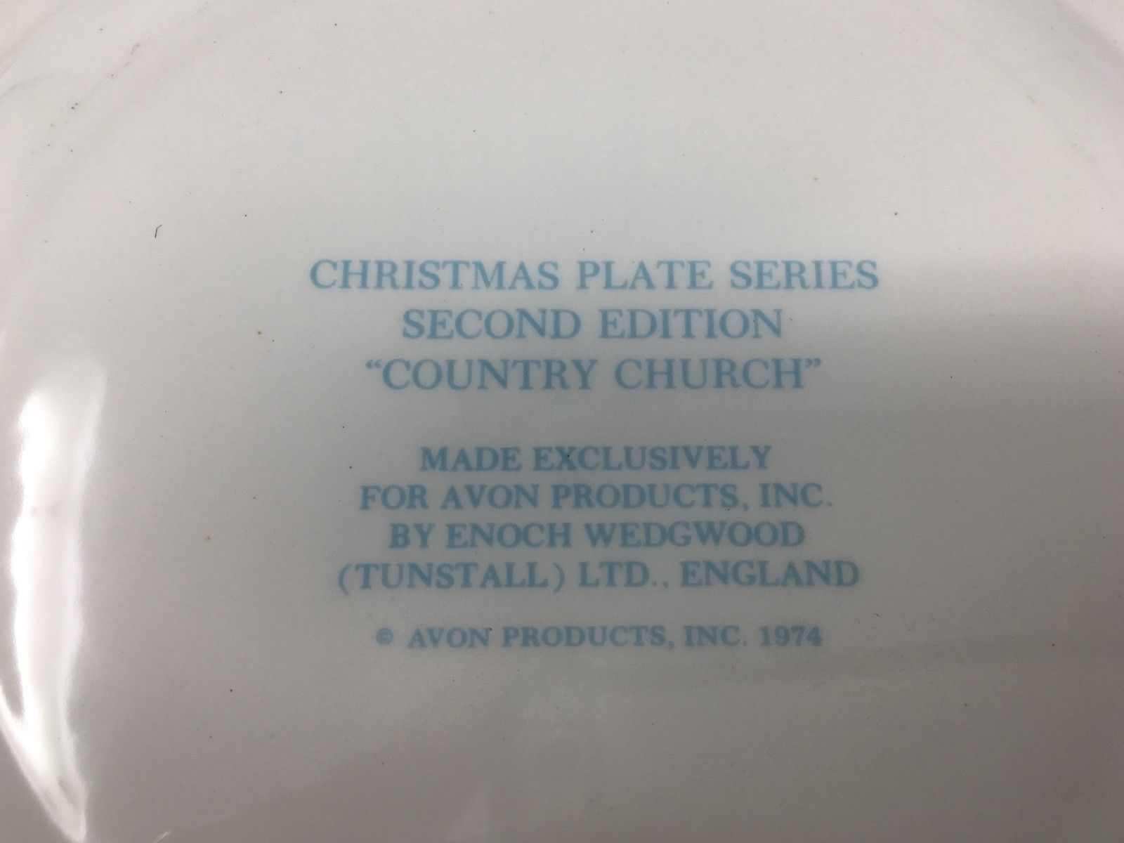 Avon 1974 Christmas Church Collector's Plate - Second Edition - Country Church image 8