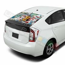 Sticker Bomb Skin Window See Thru Stickers Perforated for Toyota Prius 2017 2018 - $59.80