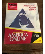 THE OFFICIAL AMERICA ONLINE TOUR GUIDE THIRD ED. for windows 3.1 TOM LIC... - $2.96