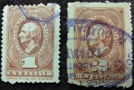 2 Mexico 1886-1887 Renta Interior Stamps - $1.95