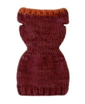 Barbie Doll Clothes Chunky Knit Sweater Dress Handmade - $6.99
