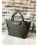Longchamp Le Pliage Medium Khaki Green Handbag Neo Shoulder Strap 151257... - $79.99