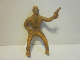 VINTAGE 1940'S HARD PLASTIC TOY RIDING COWBOY WITH GUN DRAWN - $9.99