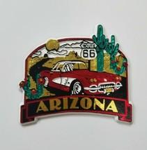 Vtg Arizona Ruta 66 Imán Viaje Recuerdo Corvette Frigorífico Decoración - $8.93