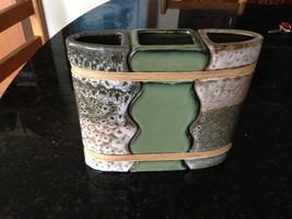 "ceramic triple vase approximately 8"" x 8"" - $49.99"
