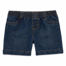 Okie Dokie Boys Pull On Shorts Baby Size 9 Months Denim Rinse Color New - $9.89