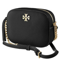 Tory Burch Womens Black Pebble Leather Robinson Round Crossbody Bag Purs... - $247.50