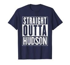 Sport Shirts - Straight Outta Hudson Funny T-Shirt Men - $19.95+