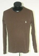 Polo Ralph Lauren T Shirt Long Sleeve Mens Small Brown - $14.80